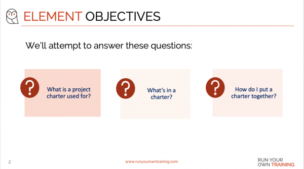 Project Initiation - Objective
