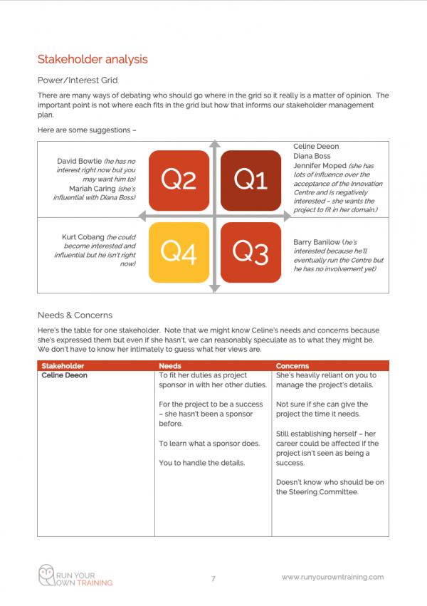 Case Study - Stakeholder analysis